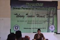 Mudir Ma'had Aly Hasyim Asy'ari KH. Nur Hannan, LC., M.Hi., memberikan sambutan dalam Pembukaan Kongres (