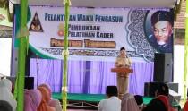 KH. Salahuddin Wahid saat memberikan sambutan