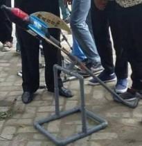 Roket air hasil karya para siswa MASS Tebuireng