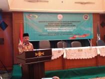 Muhammad Nasir saat membuka acara Musyawarah Nasional ke-V (MUNAS ke-V) BEM PTNU Se-Nusantara di Gedung PBNU Jakarta Senin (28/03/2016)