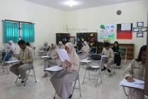 Suasana seleksi AFS di SMA A. Wahid Hasyim, Ahad (01/05/2016)