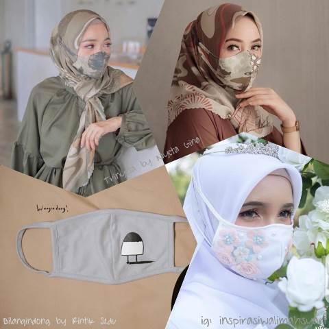 Desain Masker Jadi Outfit Muslimah di Era New Normal ...